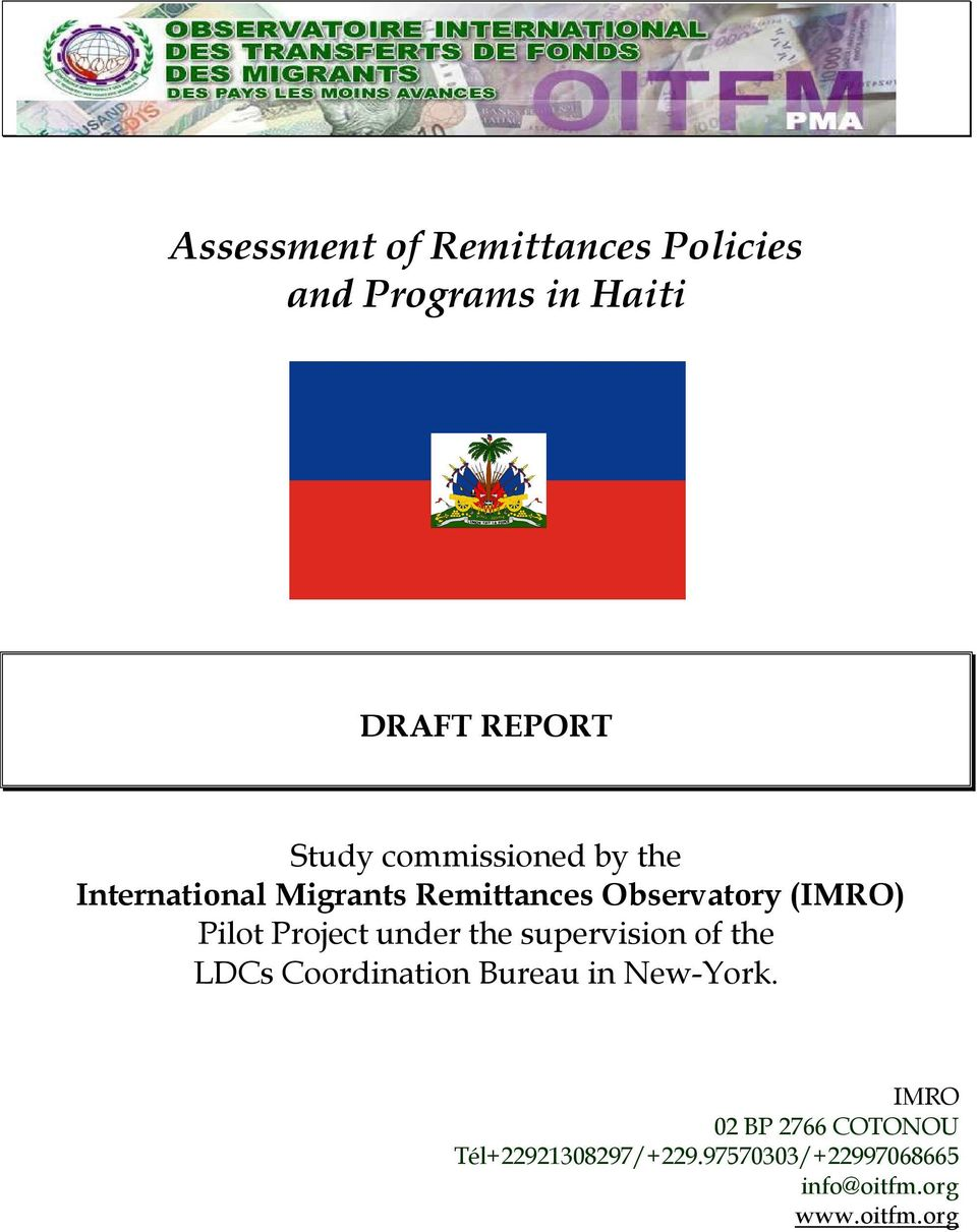 Project under the supervision of the LDCs Coordination Bureau in New-York.