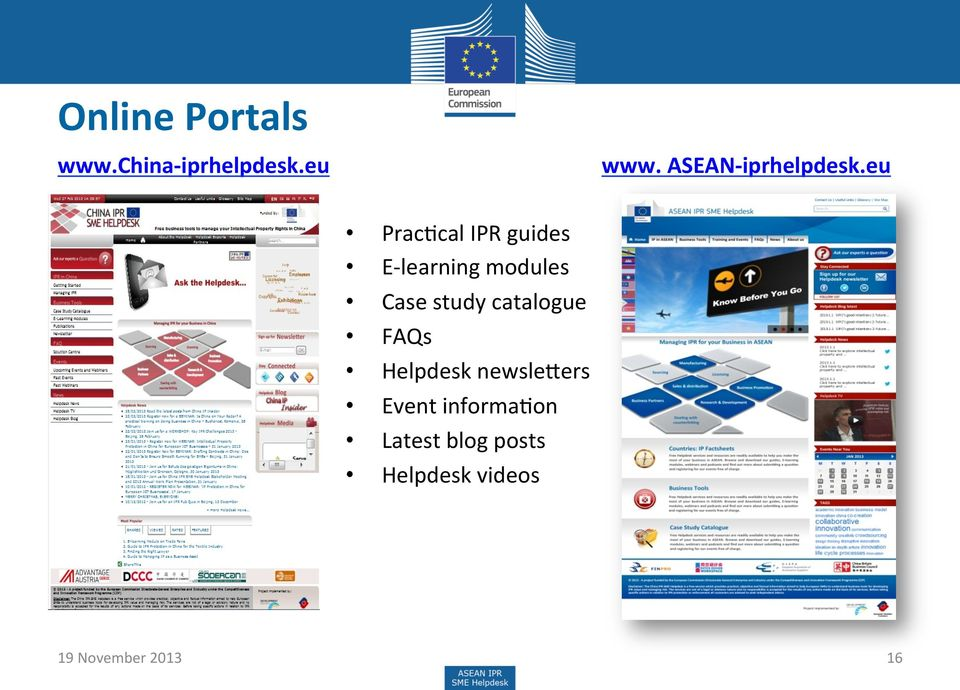 eu PracHcal IPR guides E- learning modules Case study