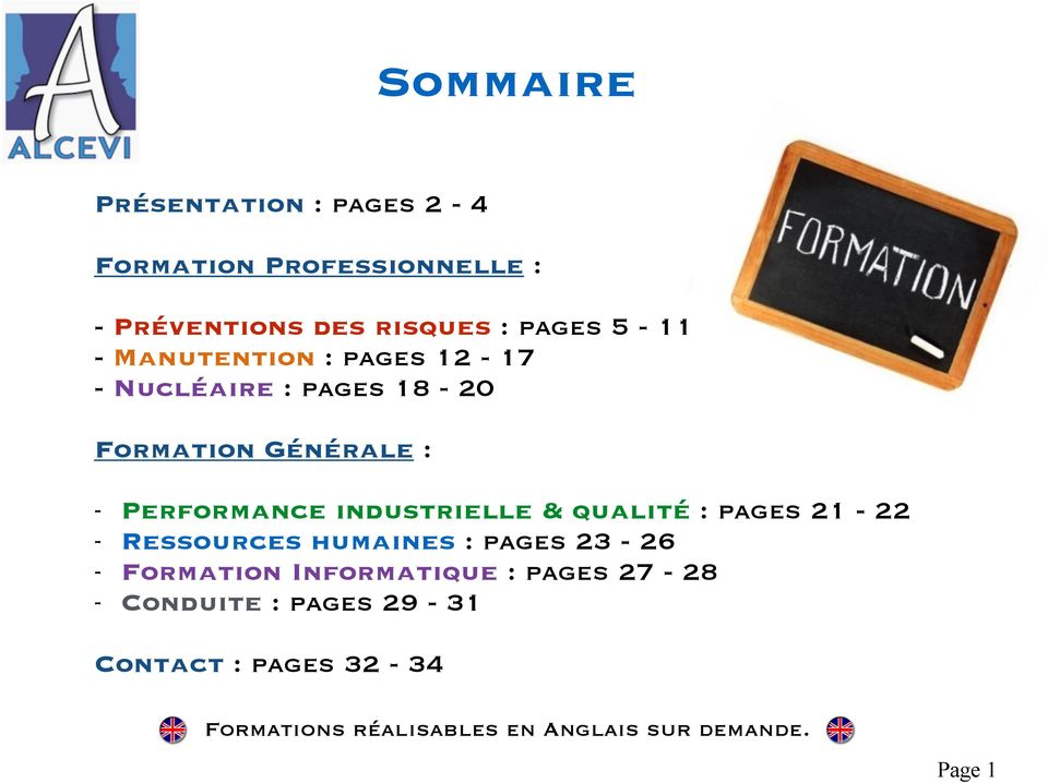 industrielle & qualité : pages 21-22 - Ressources humaines : pages 23-26 - Formation Informatique :