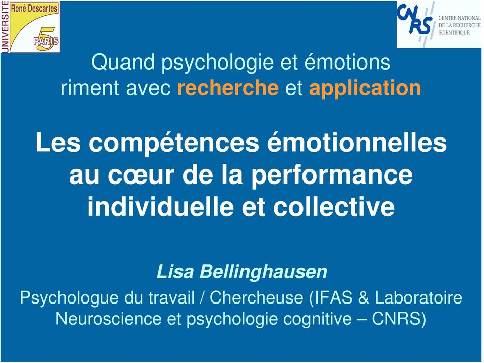 individuelle et collective Lisa Bellinghausen Psychologue du