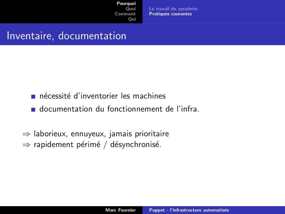 documentation du fonctionnement de l infra.
