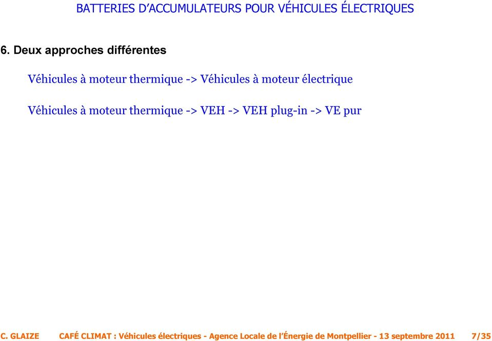 -> VEH plug-in -> VE pur C.