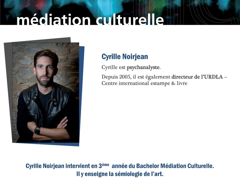 international estampe & livre Cyrille Noirjean intervient en