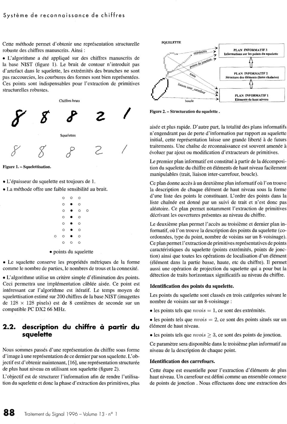 Ces points sont indispensables pour l'extraction de primitive s structurelles robustes.