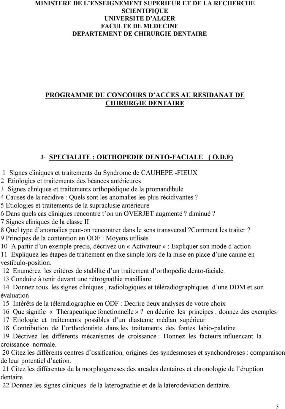 LA RECHERCHE SCIENTIFIQUE UNIVERSITE D