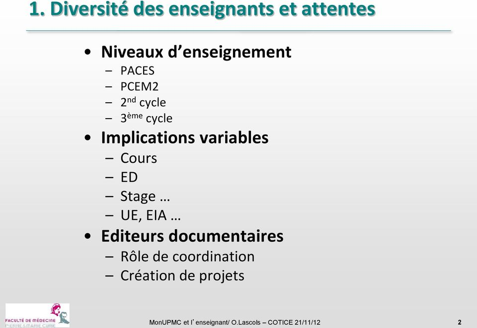 ED Stage UE, EIA Editeurs documentaires Rôle de coordination