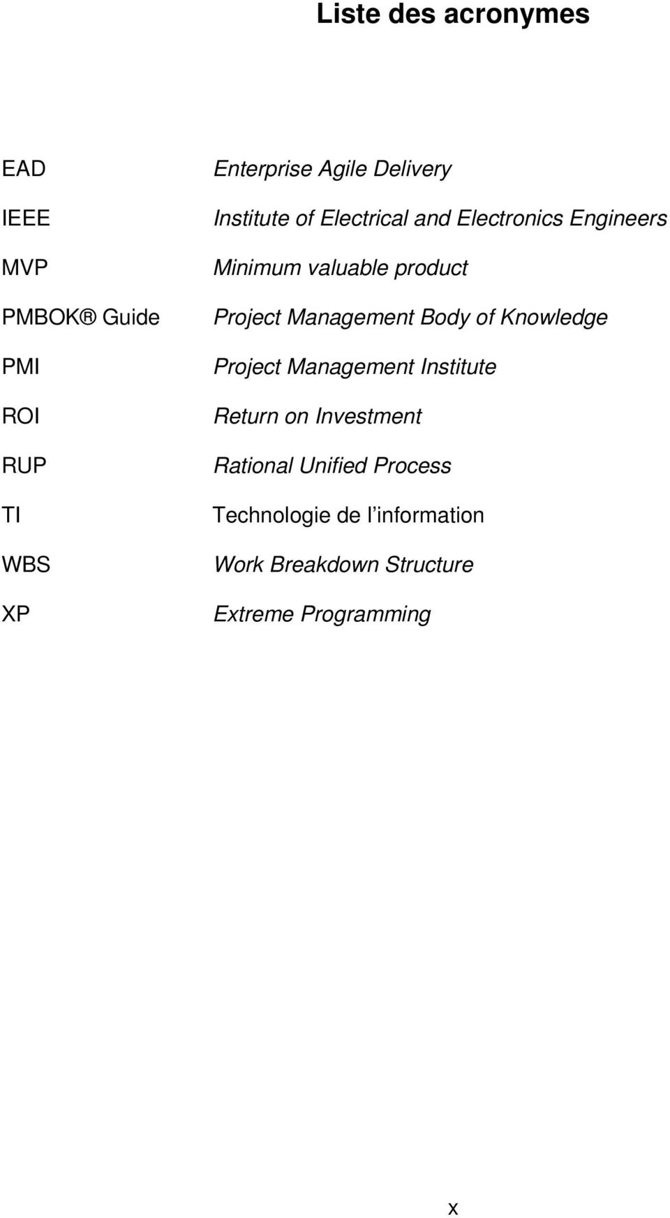 Project Management Body of Knowledge Project Management Institute Return on Investment