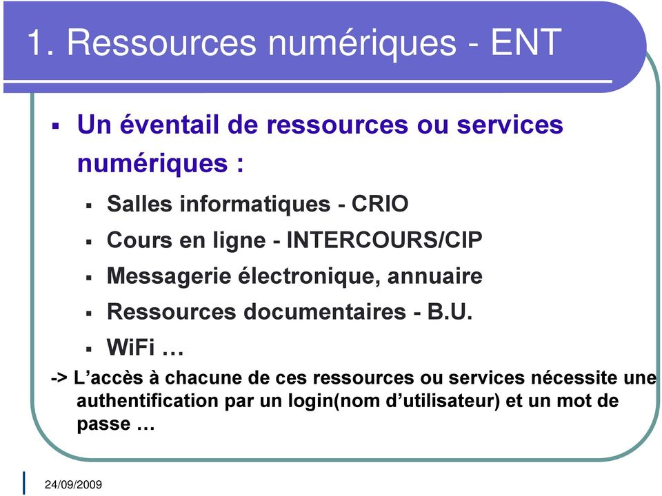 annuaire Ressources documentaires - B.U.