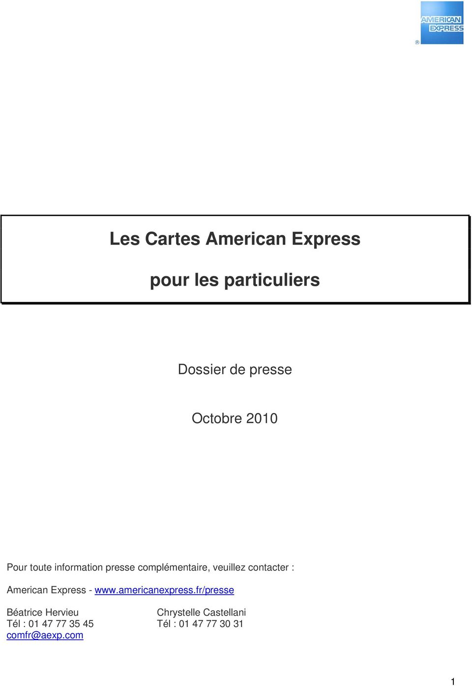 contacter : American Express - www.americanexpress.