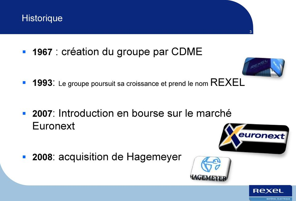 le nom REXEL 2007: Introduction en bourse sur
