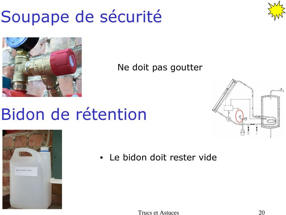 rétention Le bidon doit