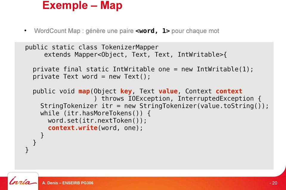 Text(); public void map(object key, Text value, Context context ) throws IOException, InterruptedException {