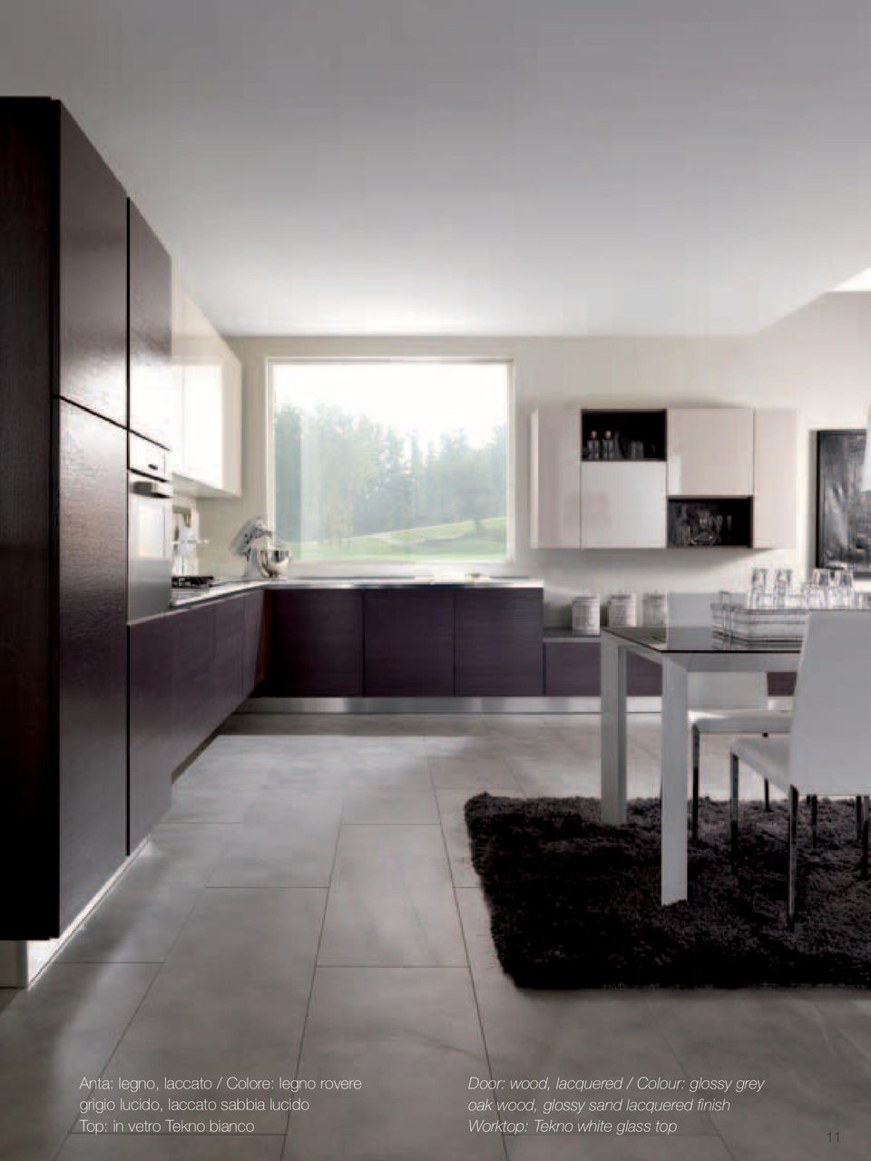 bianco Door: wood, lacquered / Colour: glossy grey oak