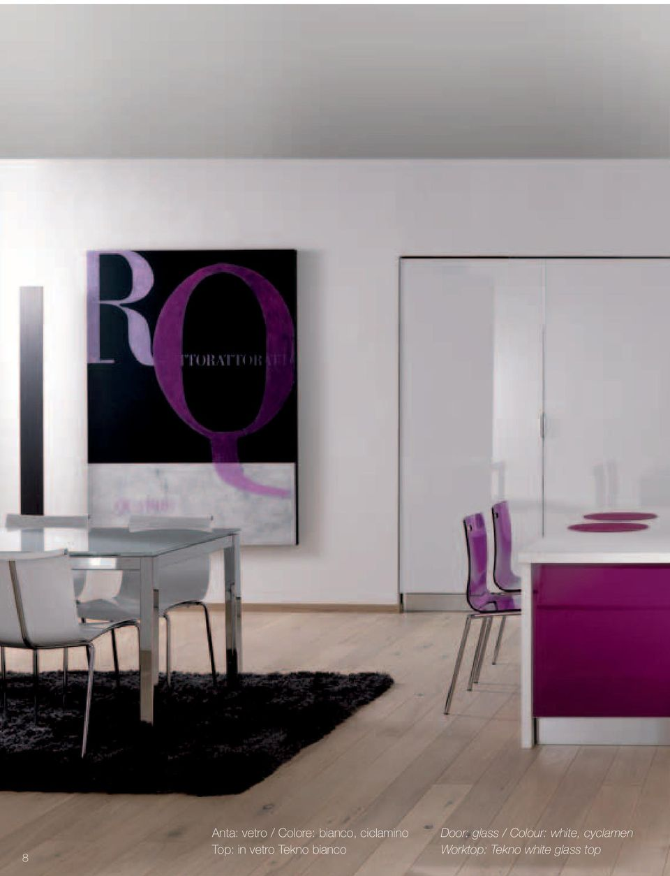 bianco Door: glass / Colour: