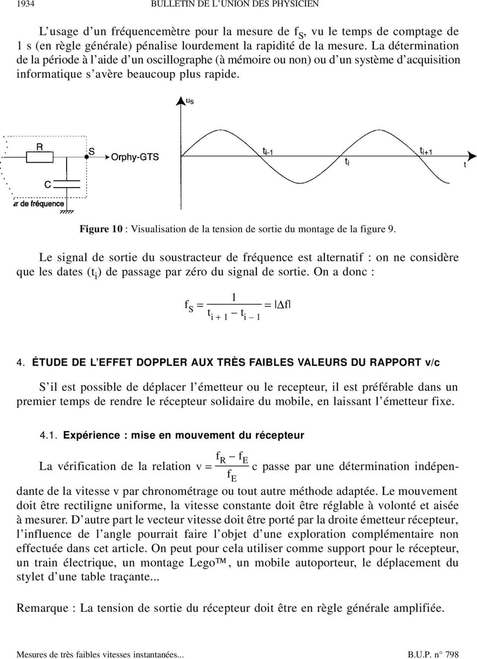 Figure 10 : Visualisation de la tension de sortie du montage de la figure 9.