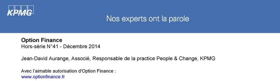 practice People & Change, KPMG Avec l aimable