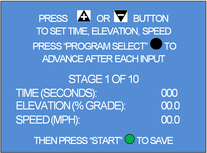 Operating Instructions TRACKMASTER User Defined Programming 19. To access User Defined menu, use the + / - key to highlight the selection and press the Yellow enter button.