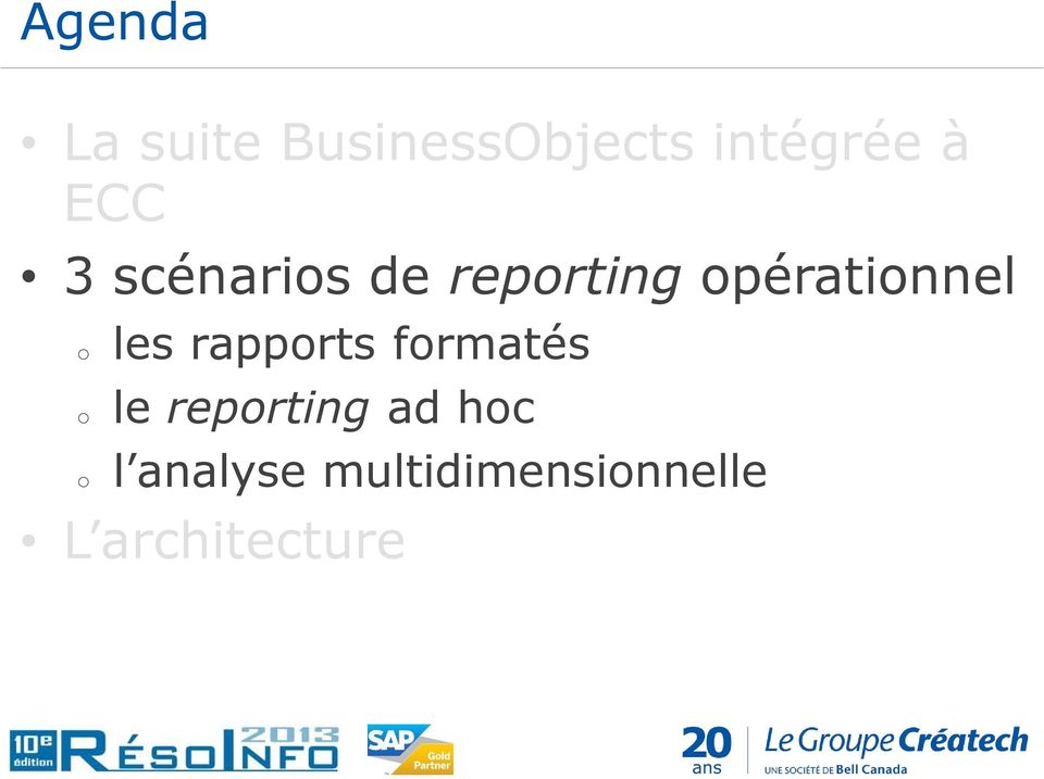 o o les rapports formatés le reporting ad