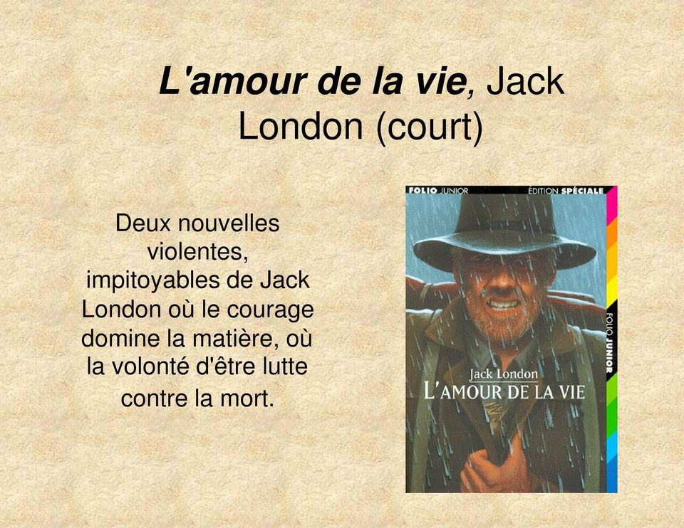 Jack London où le courage domine la