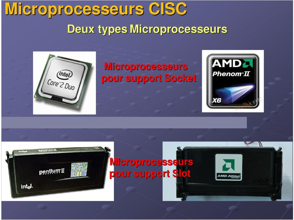 Microprocesseurs pour support