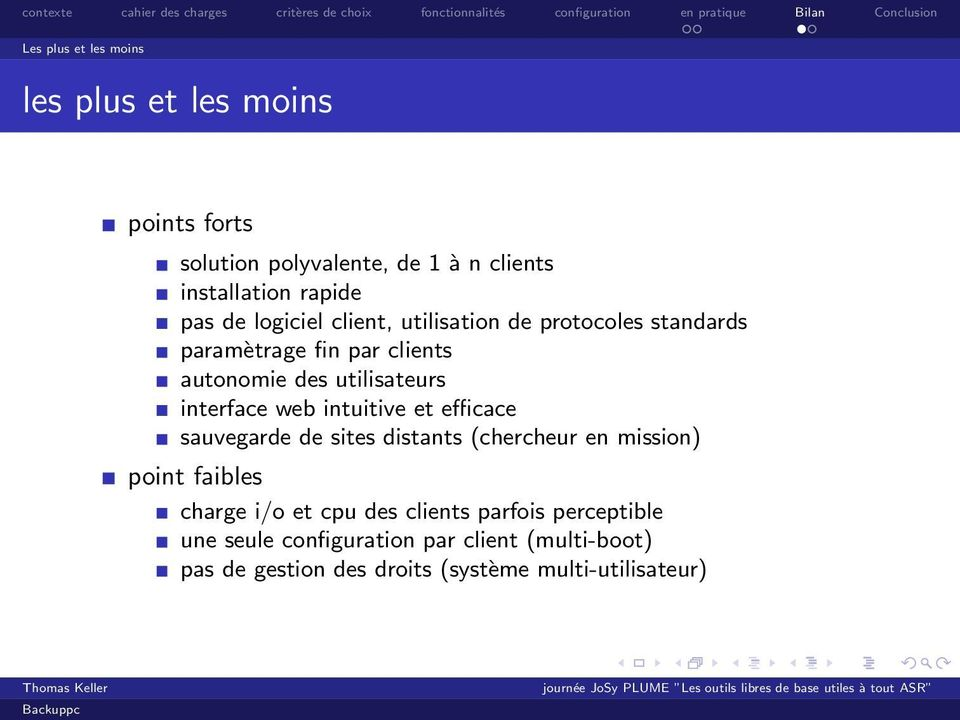 web intuitive et efficace sauvegarde de sites distants (chercheur en mission) point faibles charge i/o et cpu des