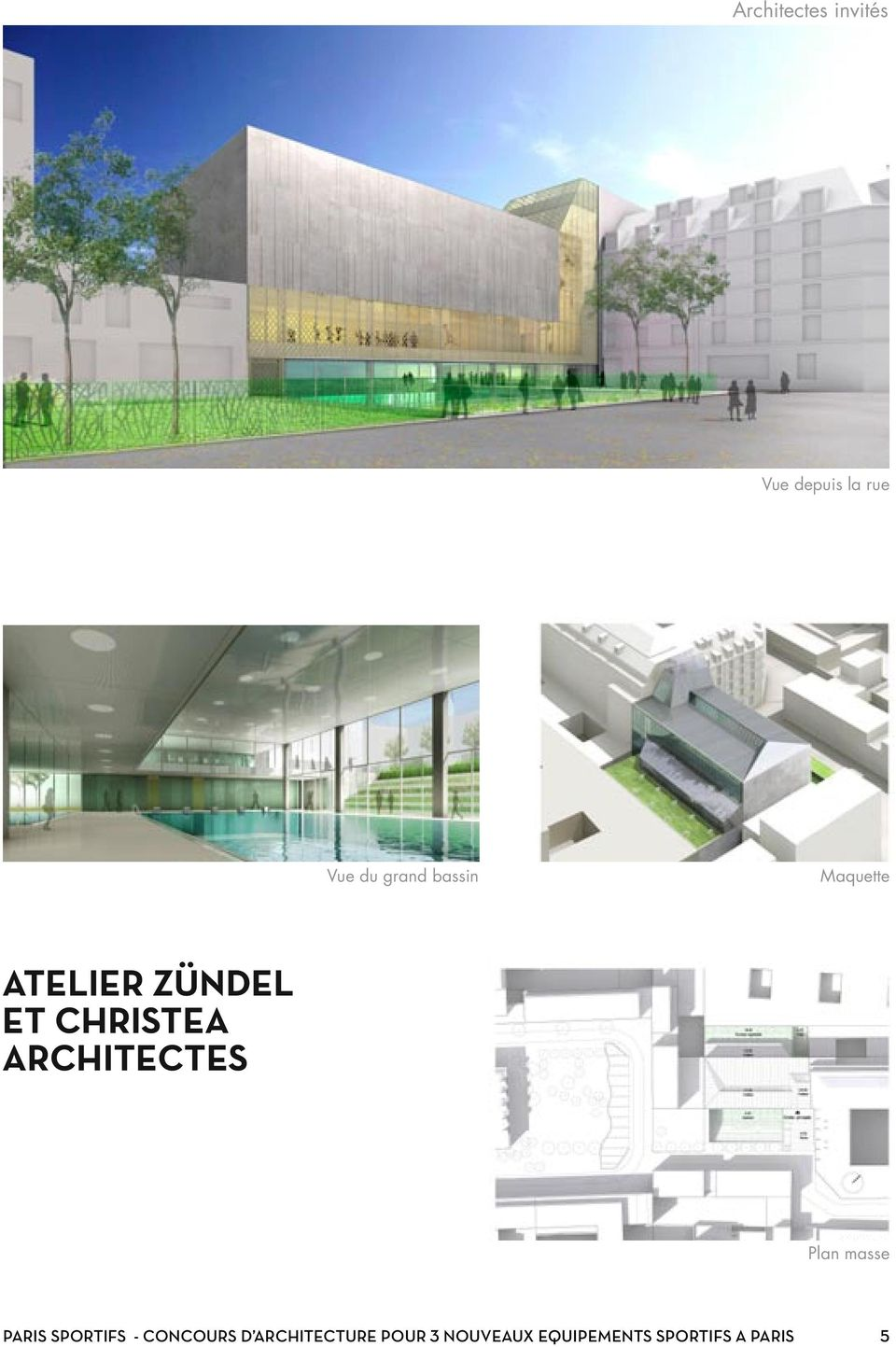 ARCHITECTES Plan masse PARIS SPORTIFS -