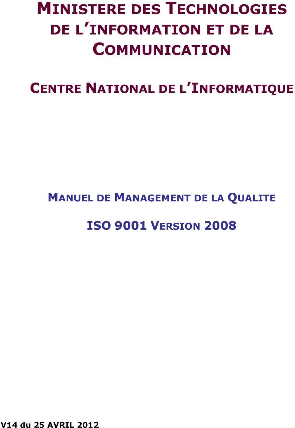 INFORMATIQUE MANUEL DE MANAGEMENT DE LA