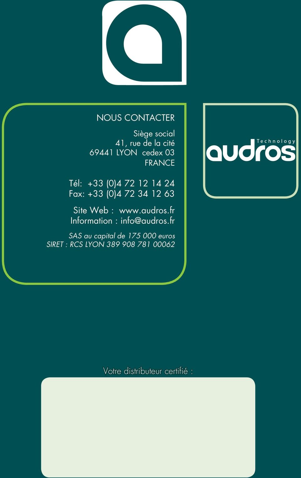 www.audros.fr Information : info@audros.