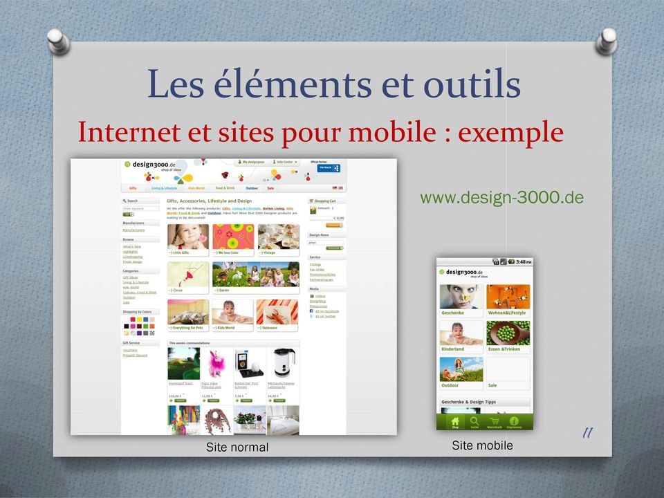 mobile : exemple www.