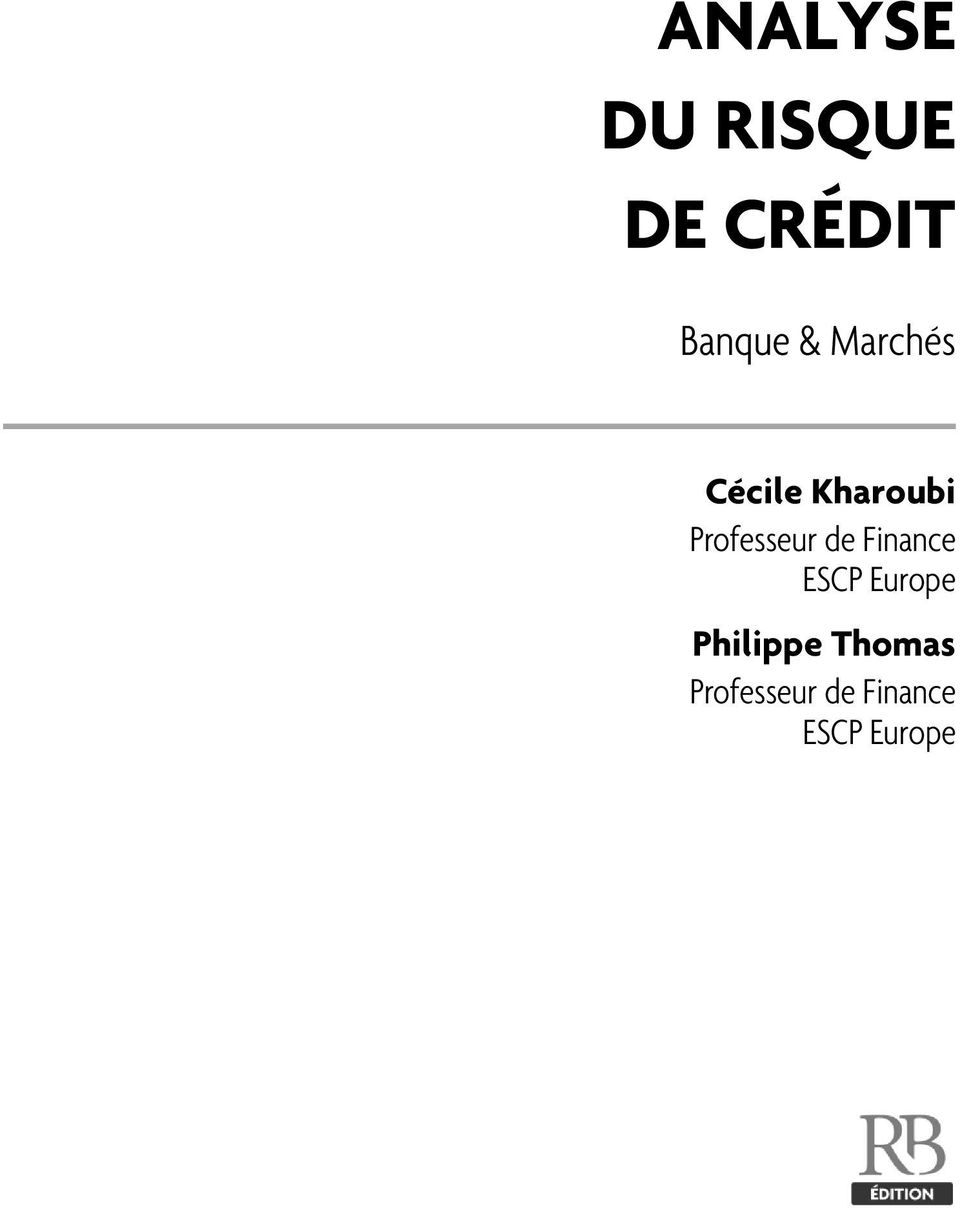 Professeur de Finance ESCP Europe