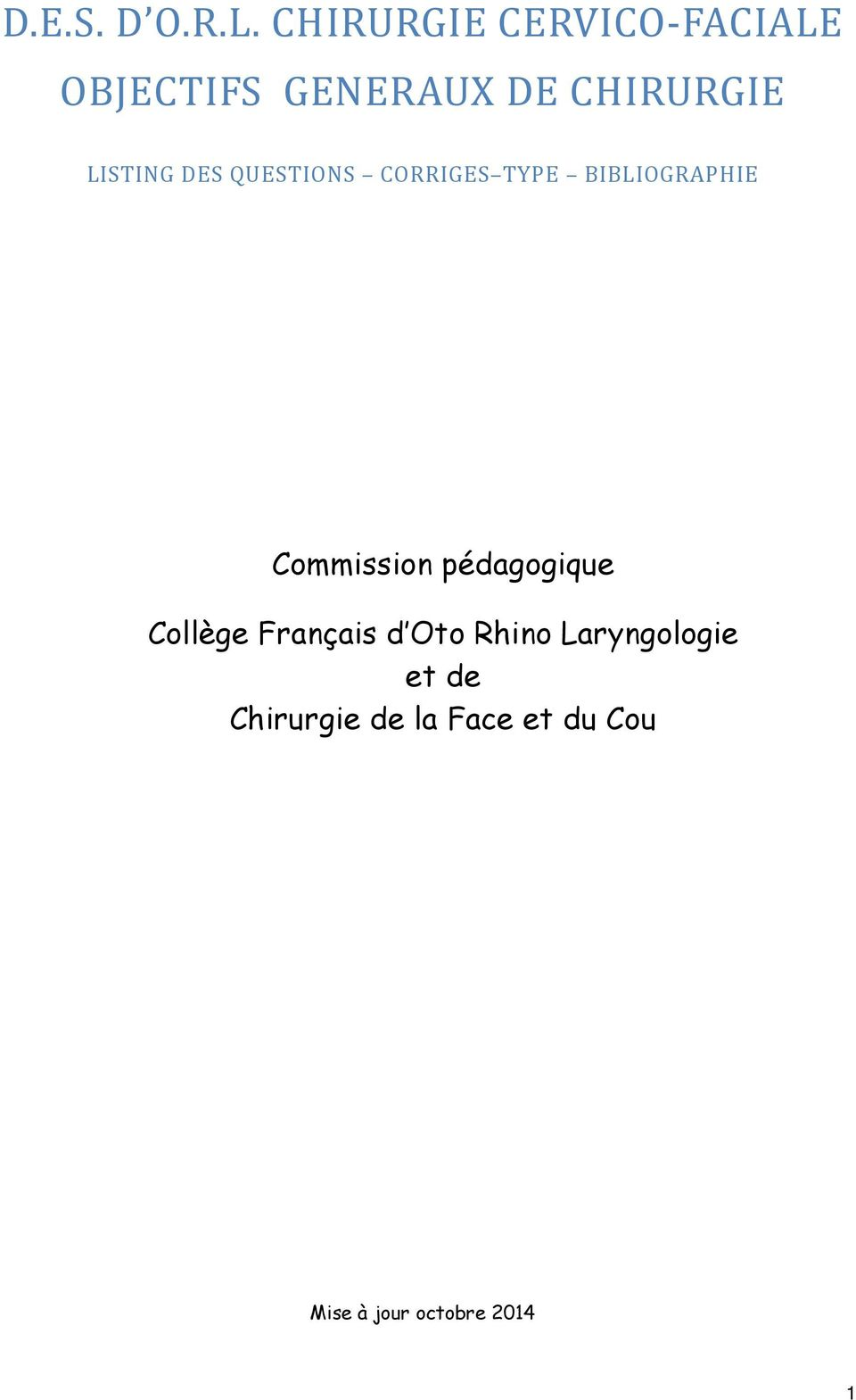 LISTING DES QUESTIONS CORRIGES TYPE BIBLIOGRAPHIE Commission