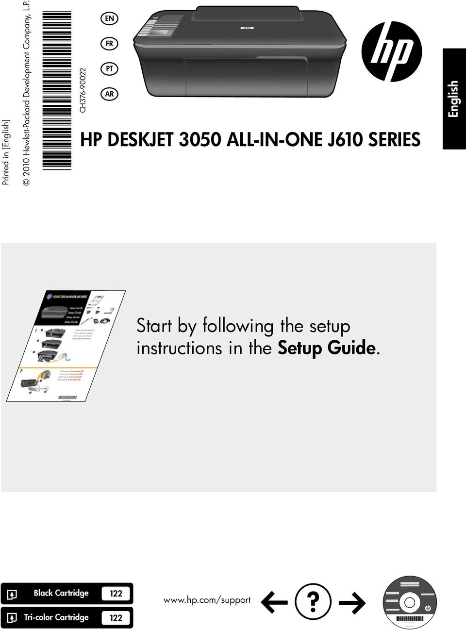 ALL-IN-ONE J610 SERIES English Start by following the setup instructions