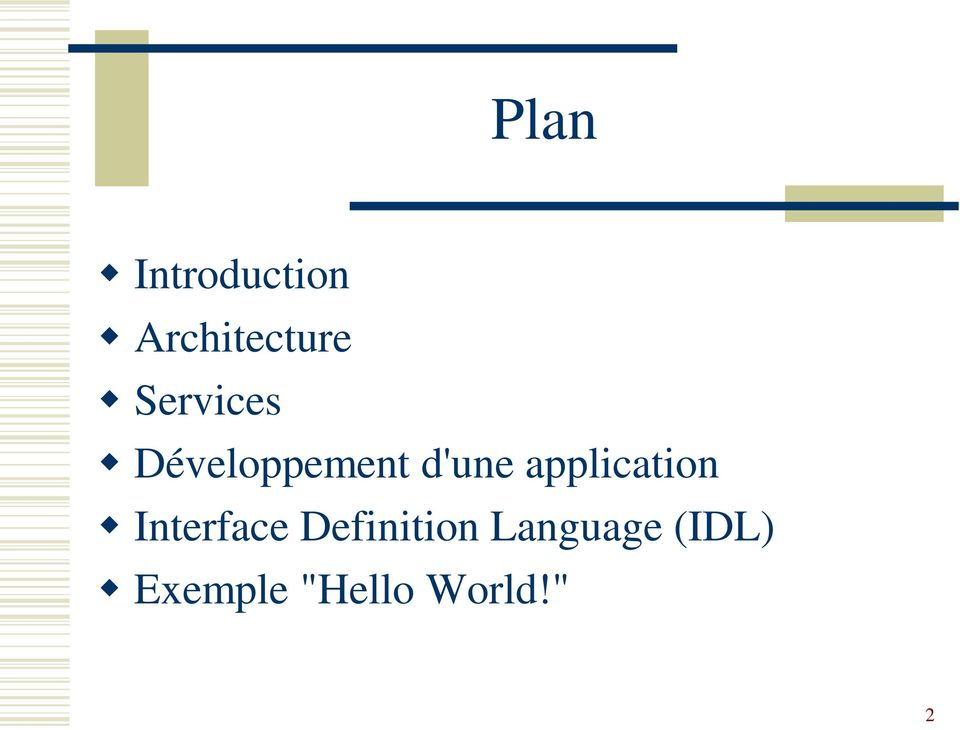application Interface Definition