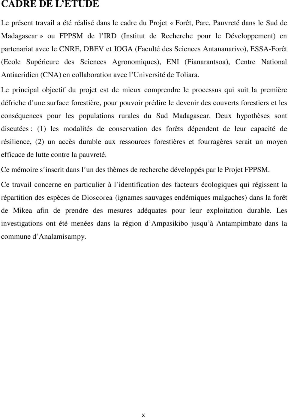 collaboration avec l Université de Toliara.