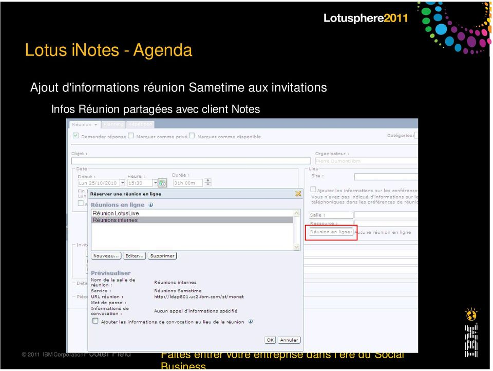 avec client Notes 2011 IBM CorporationFooter 9