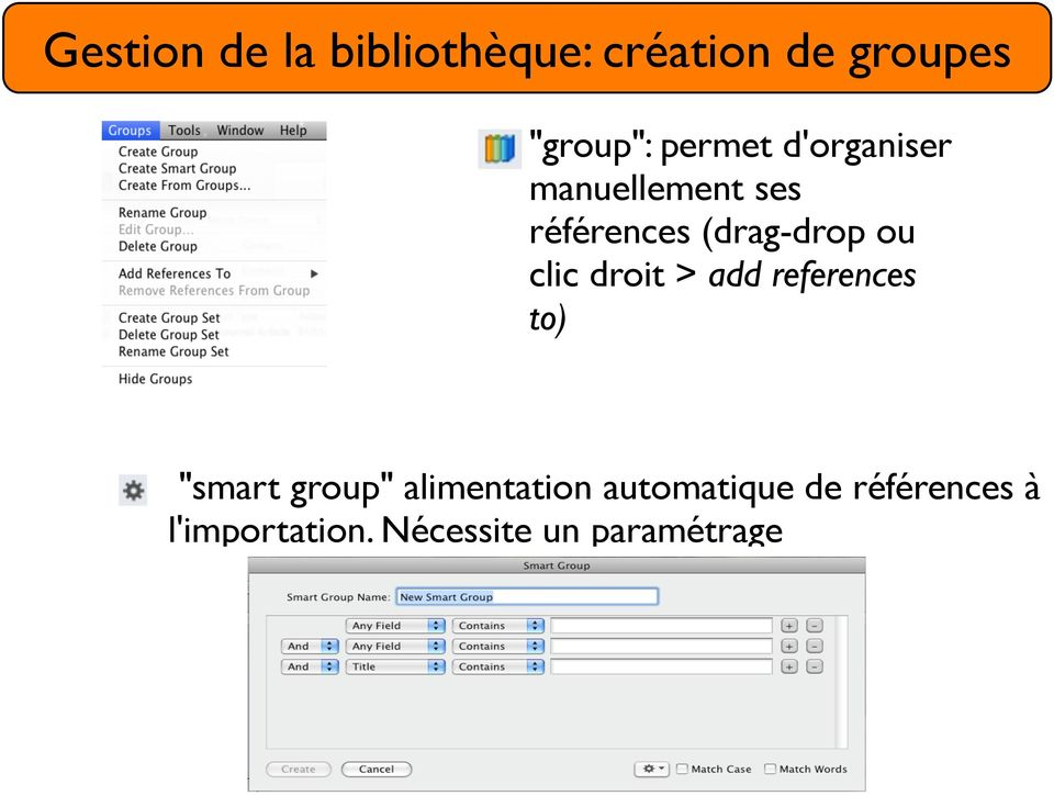 "clic droit > add references to) ""smart group"" alimentation"