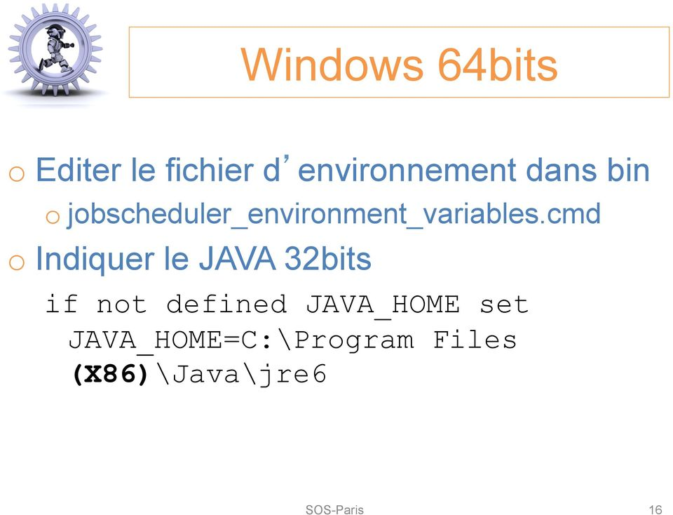 cmd o Indiquer le JAVA 32bits if not defined