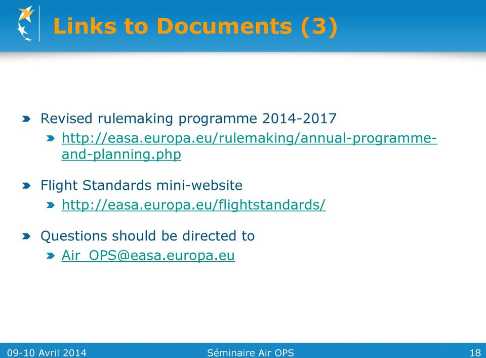 php Flight Standards mini-website http://easa.europa.