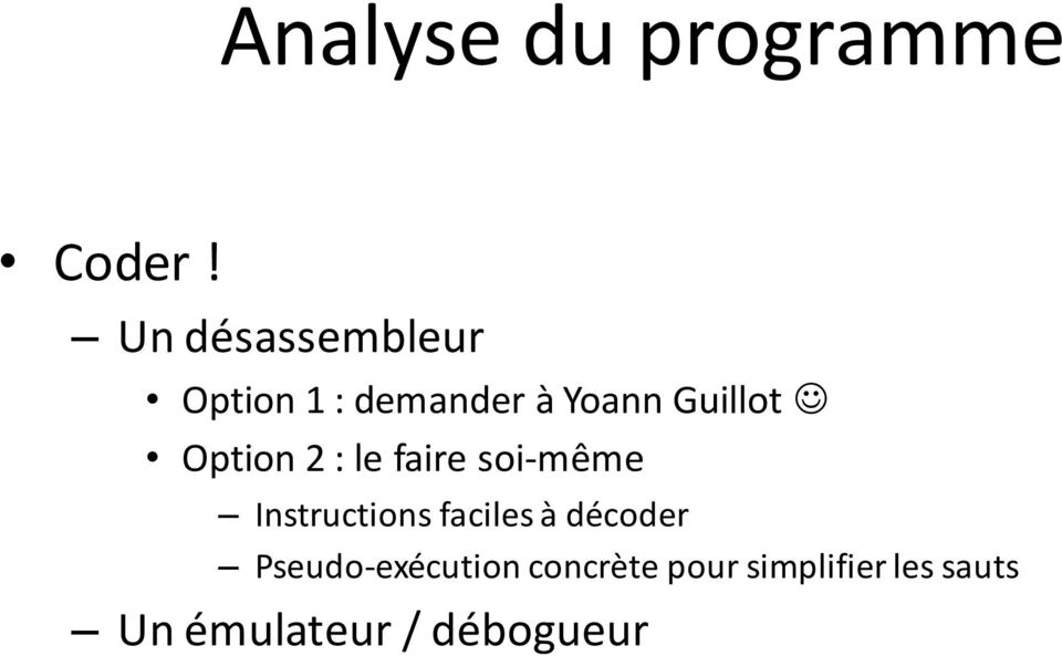 Option 2 : le faire soi-même Instructions faciles à