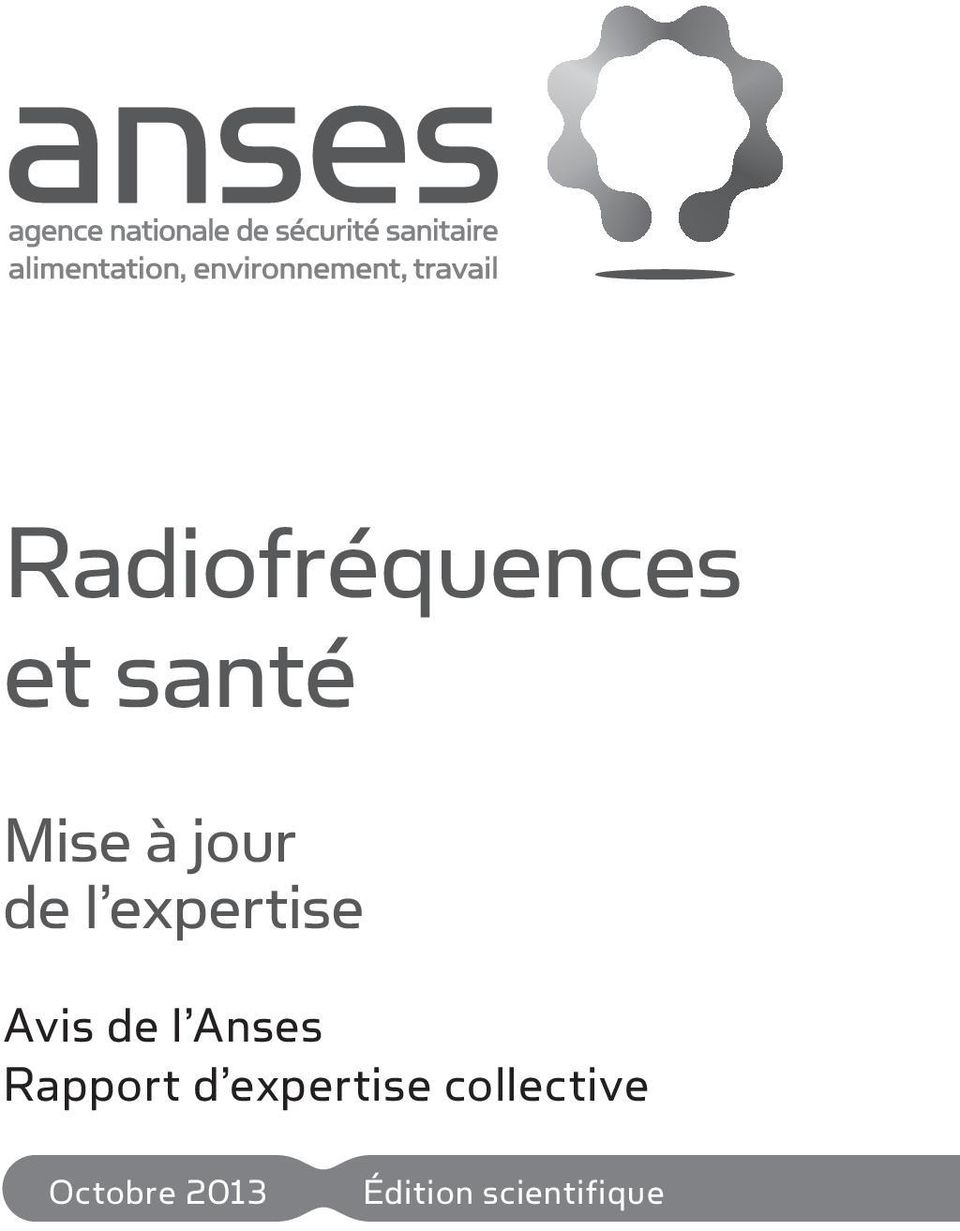 Anses Rapport d expertise