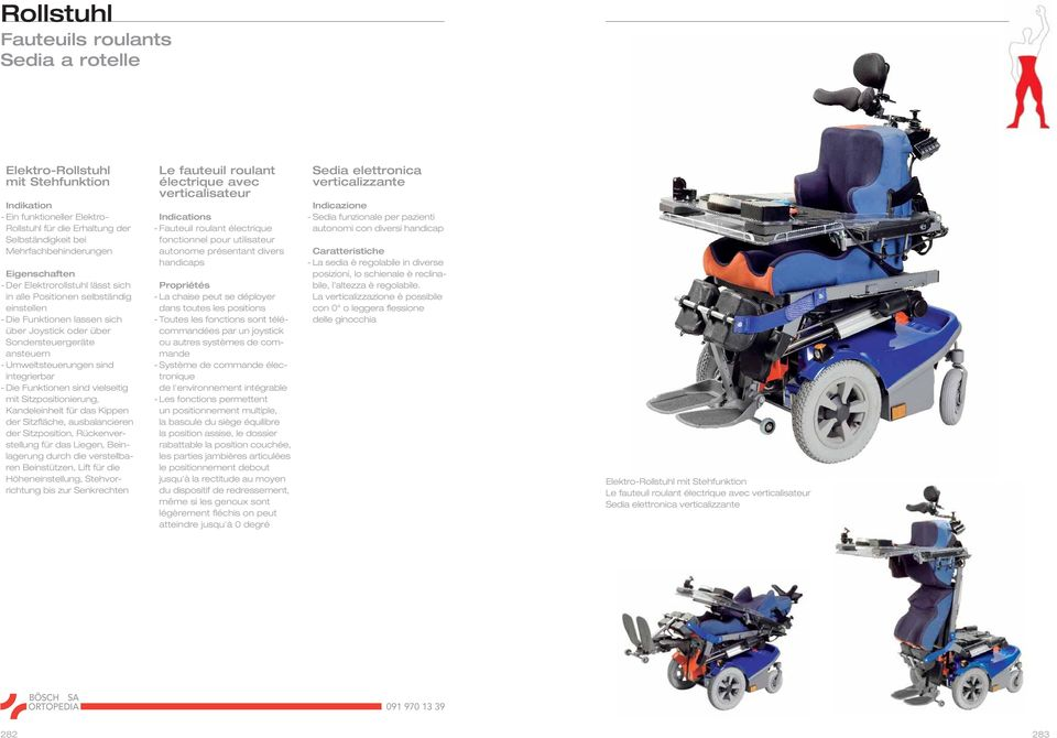 Rollstuhl fauteuils roulants sedia a rotelle pdf for Joystick per sedia a rotelle