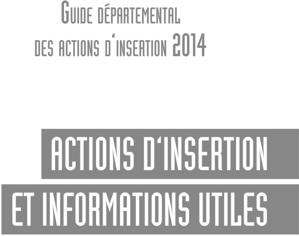 insertion 2014 ACTIONS