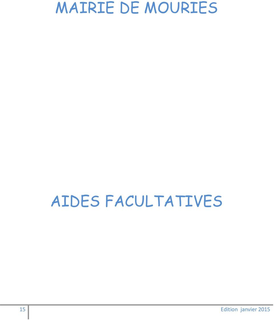 FACULTATIVES