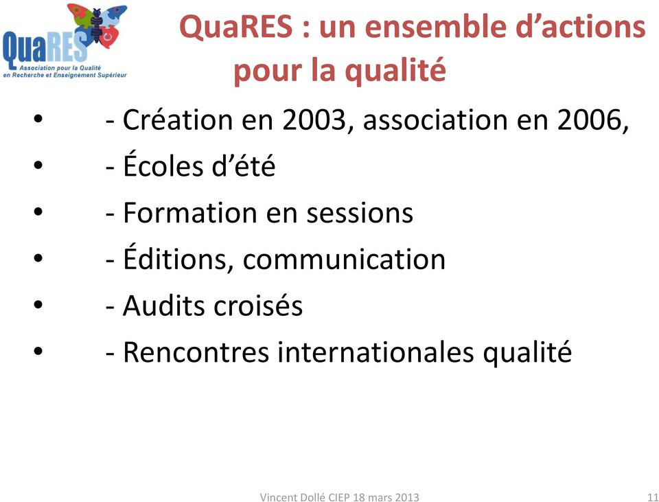 sessions - Éditions, communication -Audits croisés