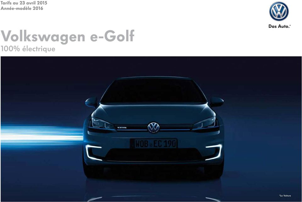* Volkswagen e-golf