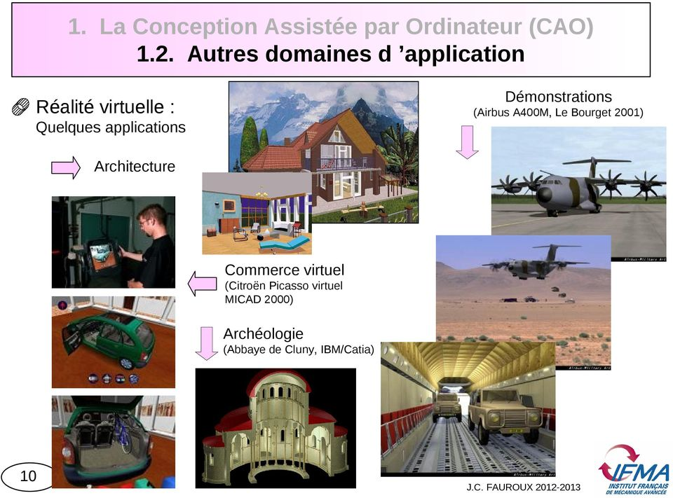 (Airbus A400M, Le Bourget 2001) Quelques applications Architecture