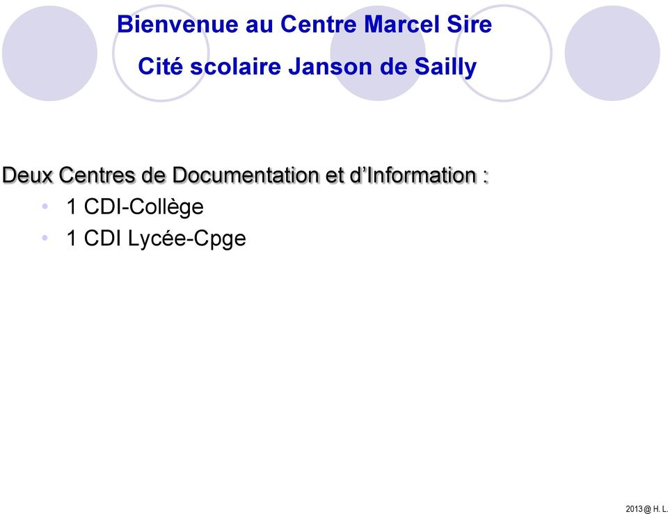 Centres de Documentation et d