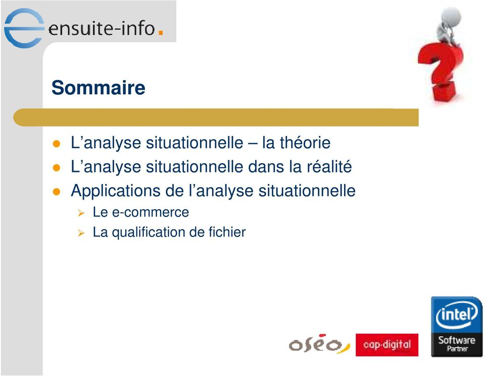 réalité Applications de l analyse