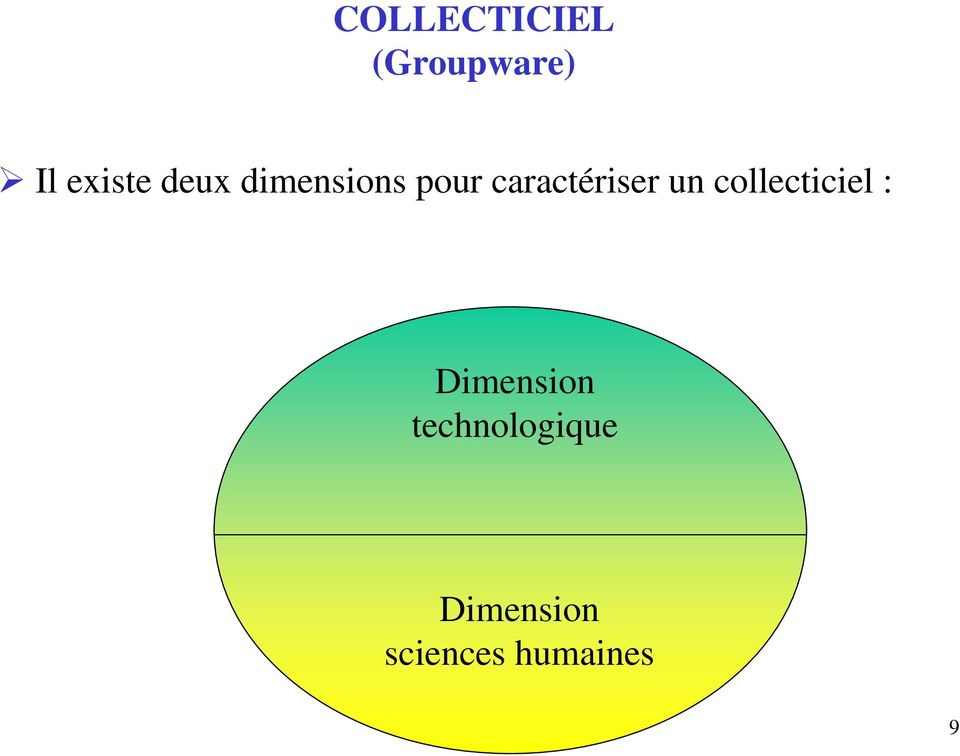 collecticiel : Dimension