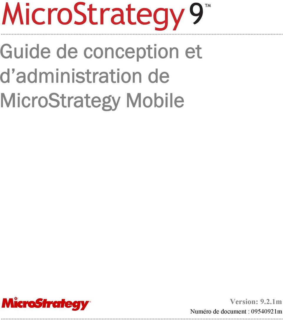 MicroStrategy Mobile